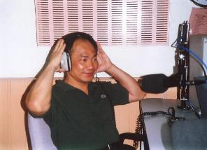 Hwa A. Lim at a radio interview