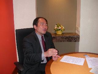 Hwa A. Lim at a newspaper interview